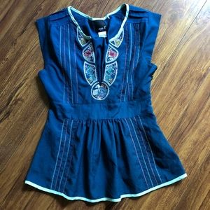 Embroidered Boho Anthropologie Aryn K Top